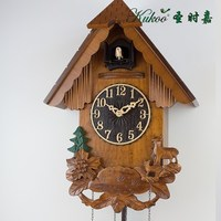 Fawn Wooden Wall Cuckoo Clock wall clock Hand carved Living room children room gifts