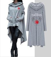 American drama power game ice and fire Tangerian songs film ladies hoodie printed long hooded pullover