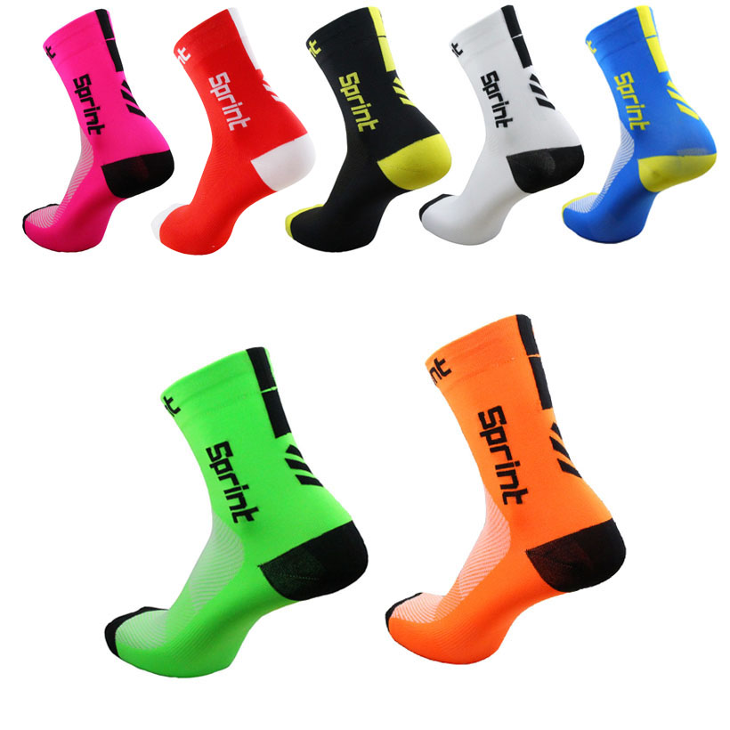 2019  Cycling Socks Men Women Anti-sweat Outdoor Sports Running Basketball Sport Socks Bicycle Bike Socks Calcetines Ciclismo