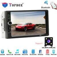 Topbox Autoradio 2 Din Common Car Models 7 '' LCD Touch Screen Car Bluetooth Radio Audio Support Rear View Camera 7018B