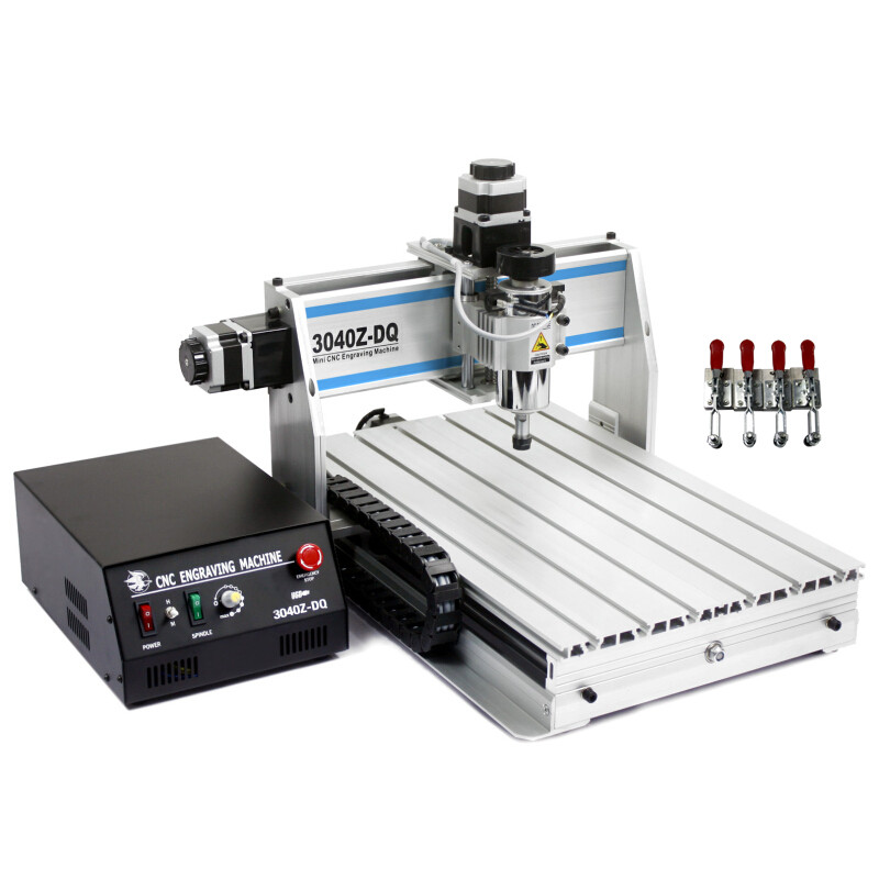 Russian tax-free CNC 3040 Z-DQ wood engraving machine pcb router with ball screw and tool auto-checking instrument tool