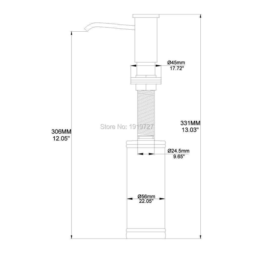 Hurtownia wysokiej pojemność 320 ML butelka z ABS łazienka kuchnia pompy cieczy balsam blat umywalkowy dozownik mydła w płynie szczotkowanego niklu