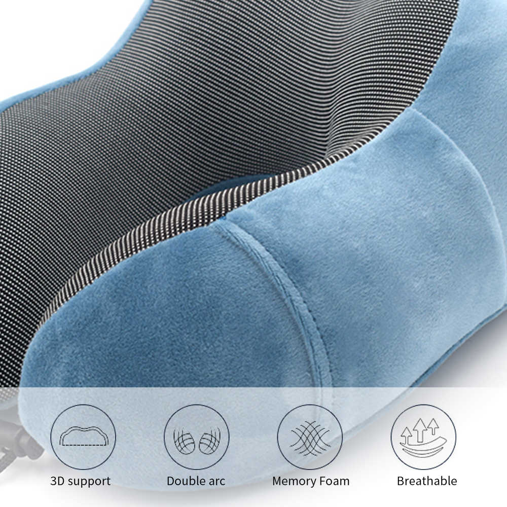 Urijk U-Shape Neck Pillow For Airplane Inflatable Pillow Memory Foam Neck Pillows Cervical Healthcare Bedding Dropshipping