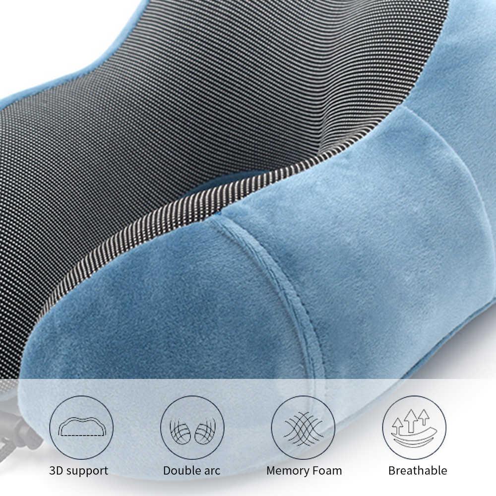 Urijk U 字型首枕飛行機枕メモリ泡の首枕頚椎ヘルスケア寝具ドロップシッピング
