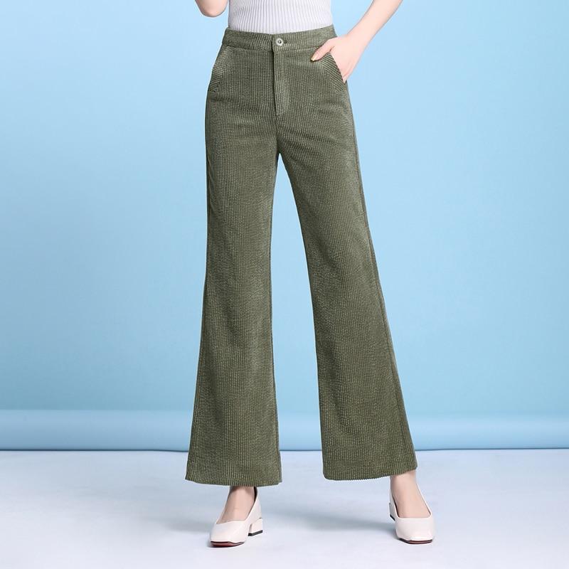 Negro verde Delgada Marrón Nueva Militar negro Mujer Blanco Beige Plus Pantalones Verde Primavera Cintura marrón Tamaño Mujeres Alta Pana Para Otoño De Dyq0902 Moda Capris qgYw6P
