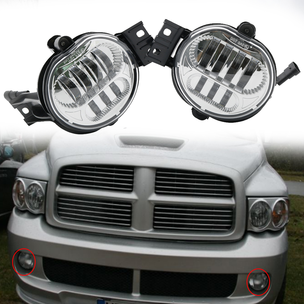 US $65 18 10% OFF|Auto parts led headlight fog light for dodge ram lights  2500 1500 3500 for Dodge Durango New Body Style models fog lights-in Car