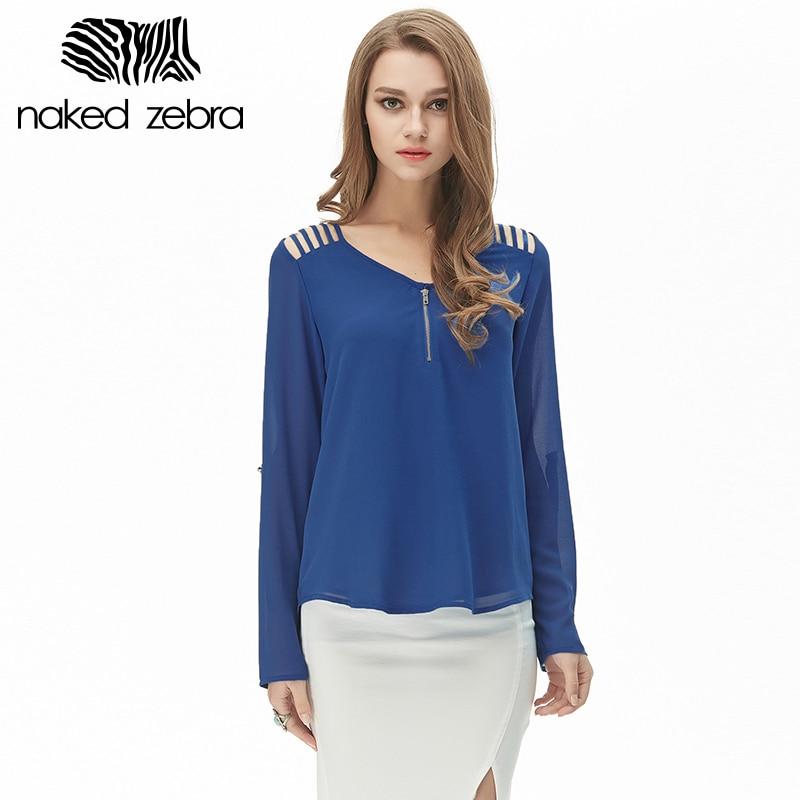 Naked Zebra Women Blue 3/4 Sleeve Blouse S | eBay
