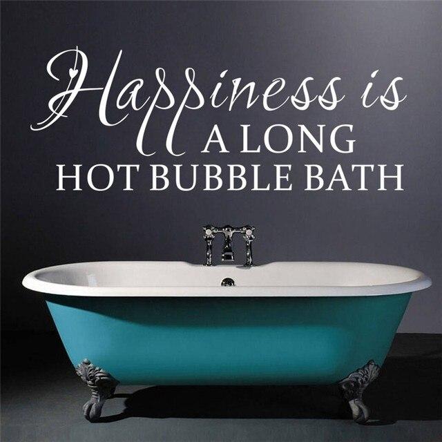 & Geluk Is Een Lange Hot Bubble Bad Quotes Muurstickers Badkamer ...