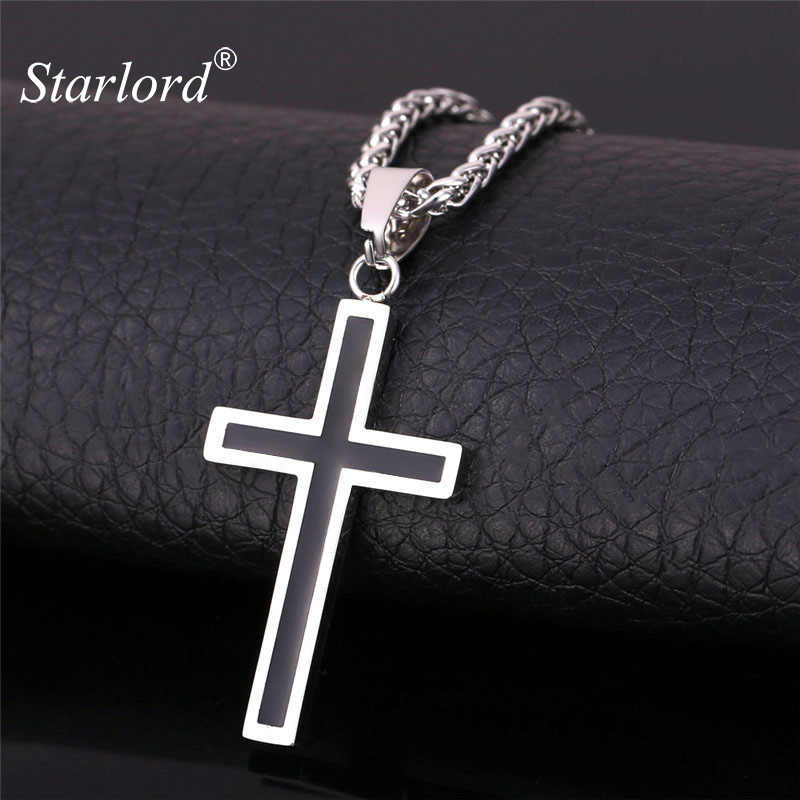 Starlord Cross Necklace & Pendant Christian Jewelry Wholesale 316L Stainless Steel Gold Personalized Cross Necklace Men GP952