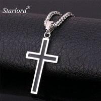 Starlord croix collier et pendentif bijoux chrétiens en gros en acier inoxydable 316L or personnalisé croix collier hommes GP952
