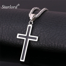 Starlord Cross Necklace & Pendant Christian Jewelry Wholesale 316L Stainless Steel Gold Color Chain Cross Necklace Men GP952