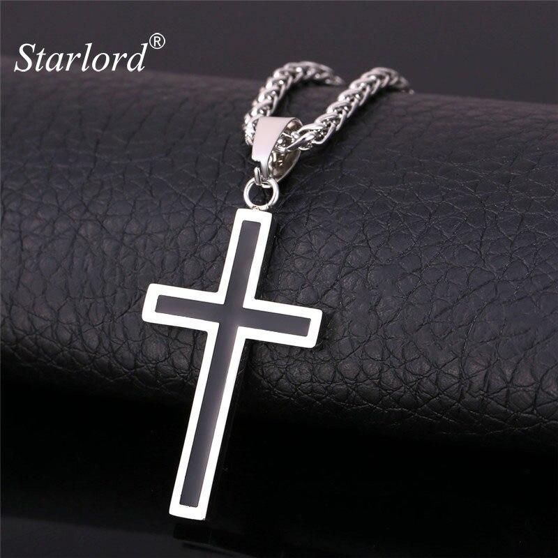 be7ccfbbb82b Collar de plata 925 femenina para las mujeres Cruz ostras colgantes Cubic  Zirconia joyería cristiana (