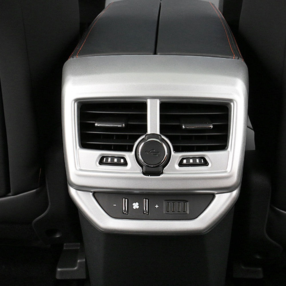 Car font b Interior b font Mouldings ABS Rear Armrest Air Vent Outlet Cover Trim Decoration