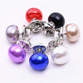 Elegant Woman Jewelry Korea Imitation Pearl Collar Cardigan Shawl Buckle DIY Scarf Brooch Pins
