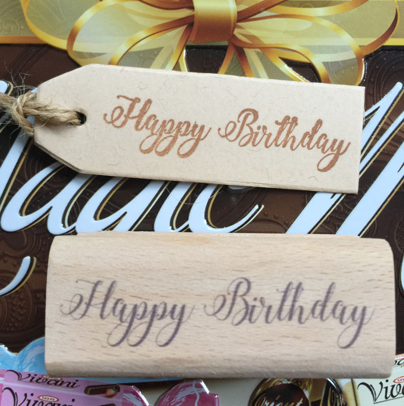 handmade happy birthday 6*2.5cm wooden rubber stamps for scrapbooking carimbo timbri christmas stamps гирлянда happy birthday 1 6 метра