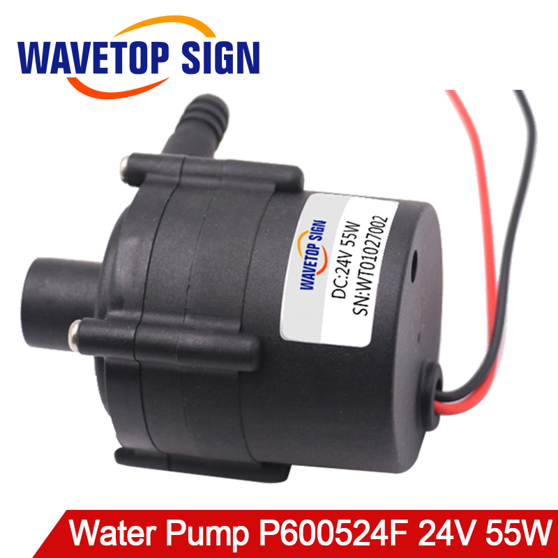 Water Pump P600524F for CW5000 Laser Water Chiller 55W 19L/min 11m Head 24VDC