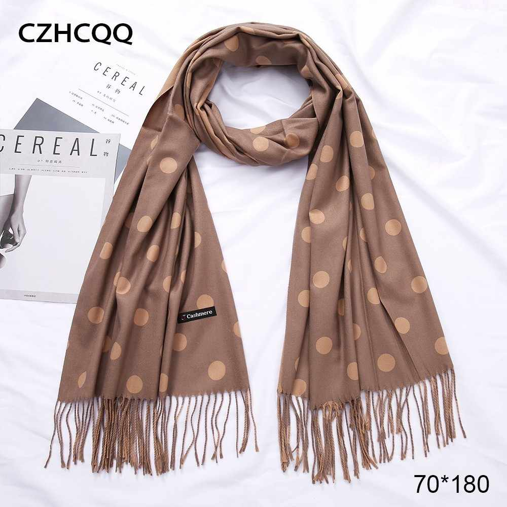 Winter Scarf Cashmere Women Foulard Wool Kerchief Bandana Trumpet Sjaals Voor Dames Plaid Poncho Women Scarf For Ladies