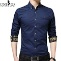 2016 Mens Dress Shirts Long Sleeve Slim Fit Chemise Homme Flower Patchwork Shirt Men Brand Camisa Masculina EU Size S-XL Z2436