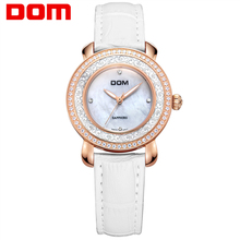 Women's watches DOM Brand Luxury Casual Leather Quartz Watch Golden Clock Sapphire Crystal Waterproof Relogio Faminino G-86GL-7M women s watches dom brand luxury casual leather quartz watch golden clock sapphire crystal waterproof relogio faminino g 86gl 7m