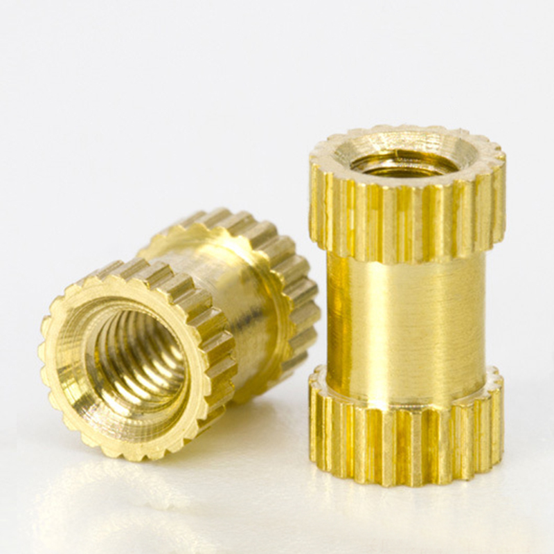 100pcs/lot M2 M2.5 M3 Copper Inserts Brass Double Pass Knurl Nut Embedded Fastener Spacing Nuts C0085