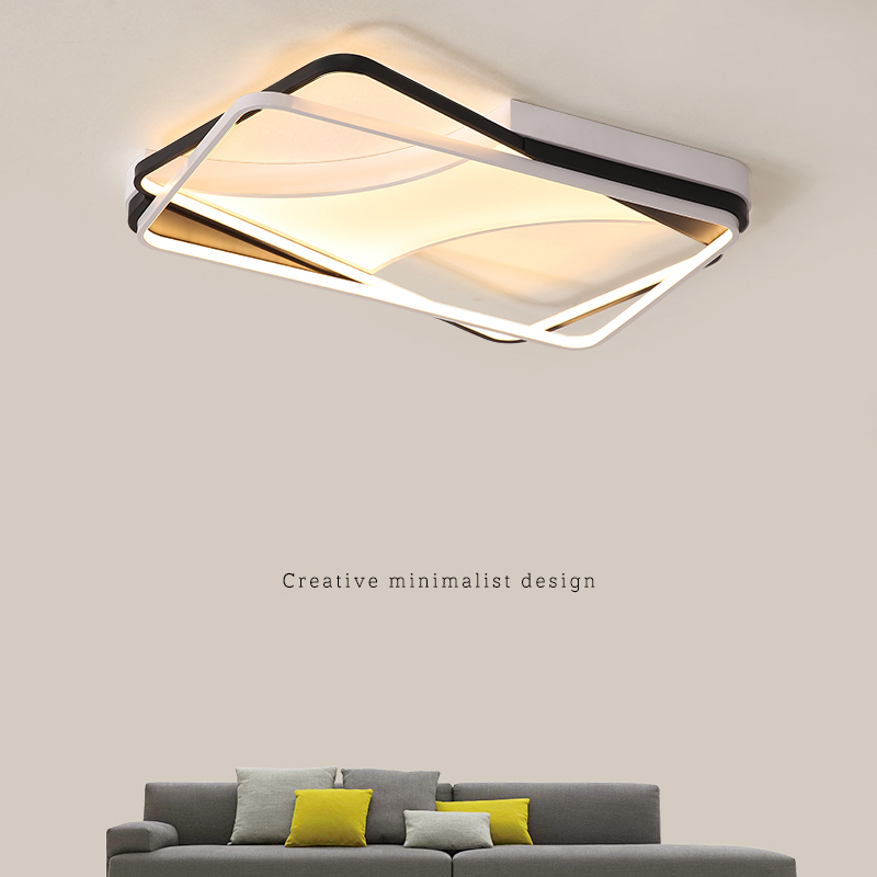 Lustre moderno Levou Luzes de Teto com Controle Remoto Lâmpada Do Teto para Sala de estar Encastrar Iluminação Interior Quarto Cozinha