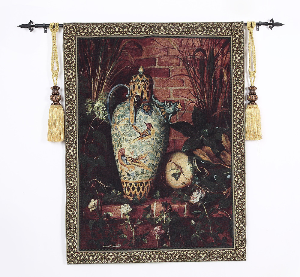 100*136cm Cloth Jacquard wall hanging tapestries bedroom study mural elegant art tapestries home painting fabric modern ceramics