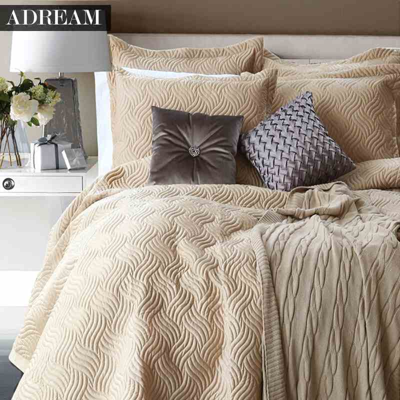 brown luxury bedding quilting quilt set 100 cotton comforter set queen sizechina