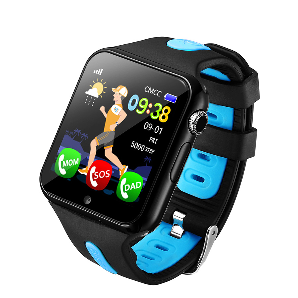 Kids GPS Smart Watch SOS Call Positioning Tracker V5K Sport Pedometer Support SIM /TF Camera Watch Phone For IOS And Android