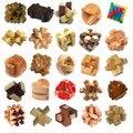 Rompecabezas de madera 3D clásico IQ mente cerebro Burr rompecabezas juego juguetes para adultos niños