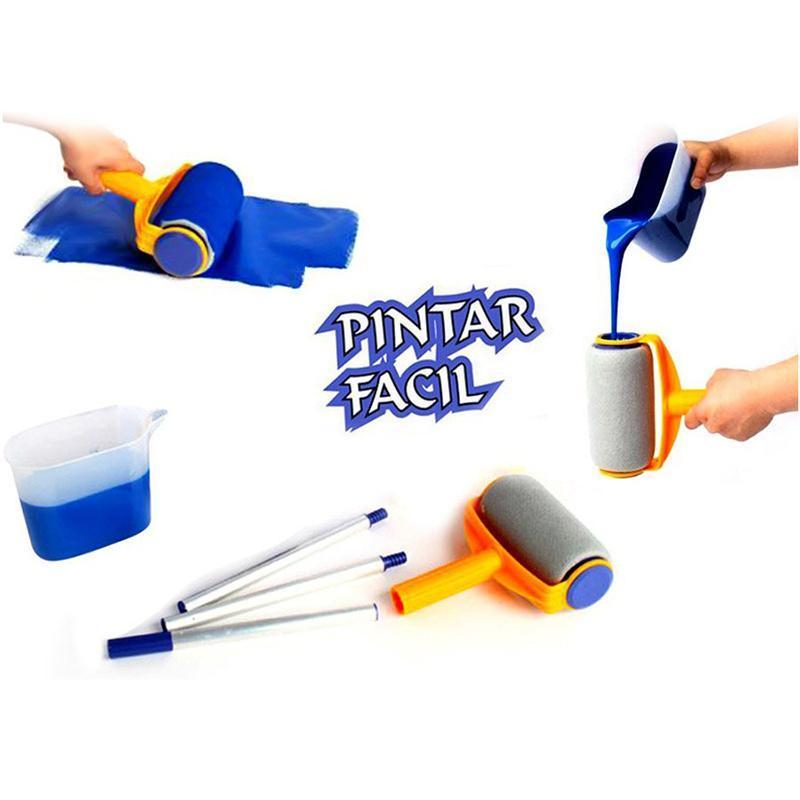new pro paint roller kit brush painting runner pintar tool facil wall decor in cleaning brushes. Black Bedroom Furniture Sets. Home Design Ideas