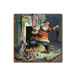 Image 4 - Merry Christmas Santa Claus Elk Gift Windbells Skiing Baptism Retro Metal Tin Signs Home Wall Art Decor Iron Poster for Bar Pub