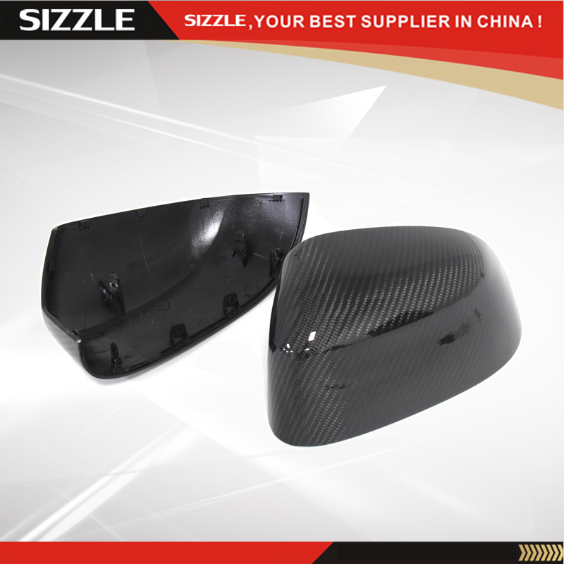 Replacement Style Carbon Fiber Rear View Car Side Mirror Cover For BMW X3 F25 & X4 F26 & X5 F15 & X6 F16 2014 2015 2016 x3 f25 x4 f26 x5 f15 x6 f16 replacement part carbon fiber side door mirror cover for bmw x3 x4 x5 x6 2014