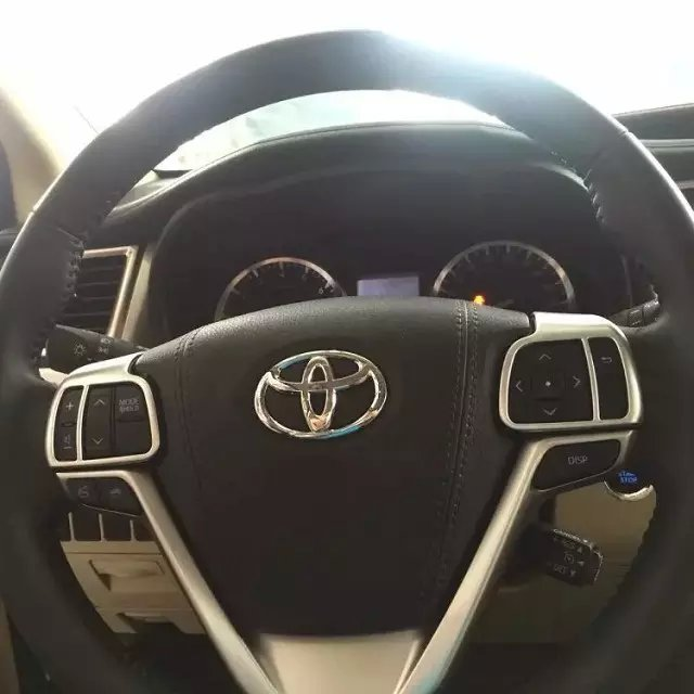 Auto steering wheel cover,steer wheel decoration trim  for Toyota Highlander 2015, Type B,auto accessories