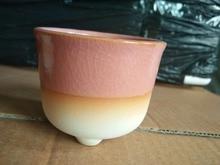 Creative personality simple imitation purple ceramic pots