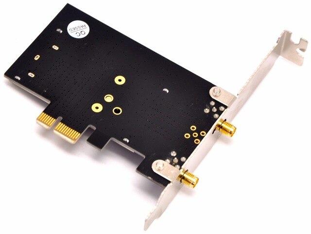 WTXUP para Broadcom BCM94360CS2 1200Mbps 802.11ac PCI-E adaptador wifi inalámbrico tarjeta WLAN Bluetooth 4,0 para MAC Hackintosh Windows