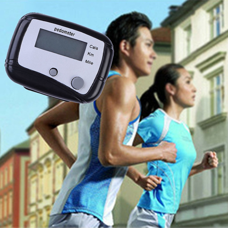 2017 New Multifunction Pedometer Walking Distance Calorie Pedometer Counter Hiking Pedometer Fitness Equipment Wholesale Black