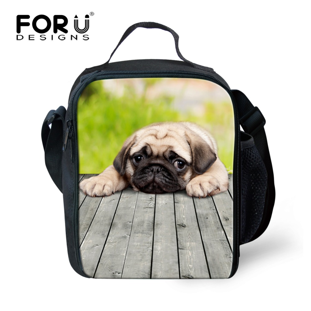 FORUDESIGNS Kids Lunch Bags for School 3D Cute Animal Shoulder Bag for Boys Girls Cartoon Print Picnic Bags Child Cross-body Bag