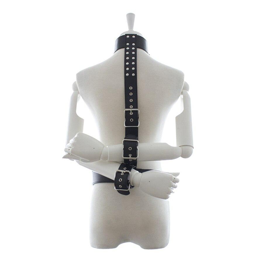 Buy Leather Neck Collar Hand Cuffs Tie Waist Belt Fetish Slave Collar Bondage Restraint Sex Collar Erotics Toys Couple