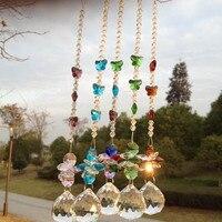 Garland Chakra Spectra 5PCS Suncatcher Glass Crystal Pendulum Lamp Prisms Parts Feng Shui Pendants 40mm M02280 2
