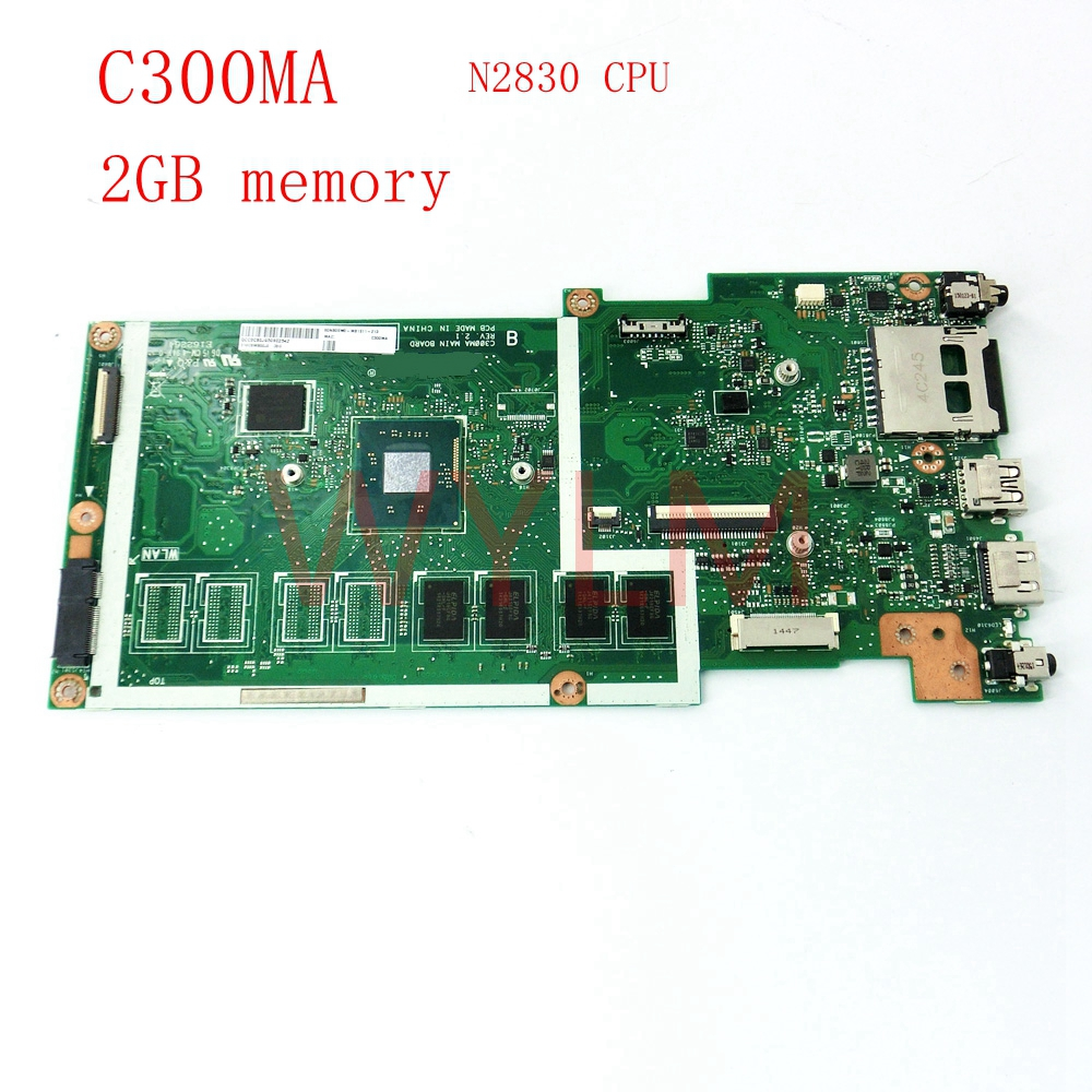 цены free shipping C300MA with N2830CPU 2GB memory mainboard For ASUS C300MA C300M laptop motherboard 60NB05W0-MB1511-213 tested good
