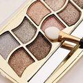 12 Colores de Cosméticos Glitter Diamante Belleza Maquillaje Brillante Sombra de Ojos Paleta y Cepillo