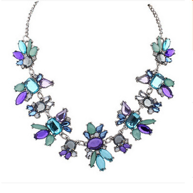 The best offer new fresh wild fashion delicate flowers crystal chain necklace jewelry gift 1 pc.
