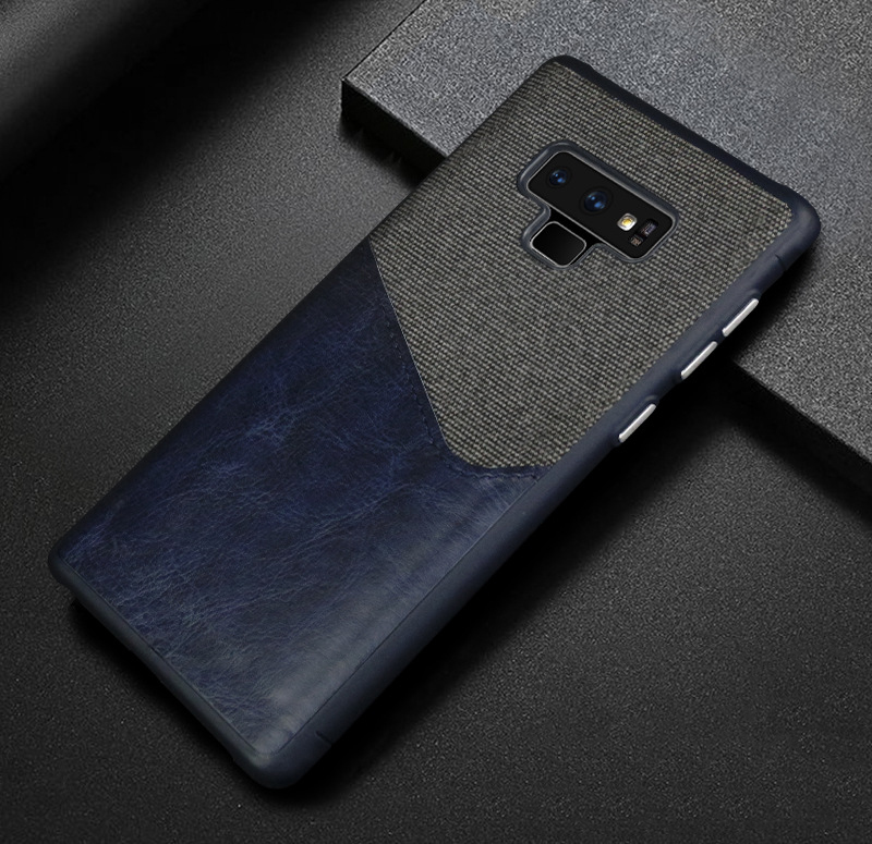 Luxury Business Cloth+leather Wallet Case for samsung note 9 8 with Card Pocket Cover for samsung galaxy S8 S9 Plus case Coque   (11)