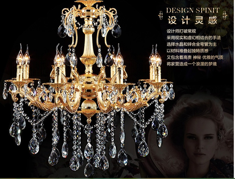 цены  Free Shipping 8 E14 LED lamps Factory Wholesale modern rectangular Gold crystal chandelier K9 crystal chandelier