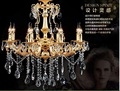 Free Shipping 8 E14 LED lamps Factory Wholesale modern rectangular Gold crystal chandelier K9 crystal chandelier