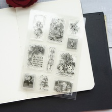 fairy tale Alice story design clear transparent stamp silicone stamps as scrapbooking decoration DIY card paper gift use