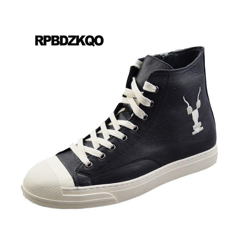 Hip De Genuino Skate Real Hop Negro Bordado Invierno Británico Zapatos  Zapatillas Hombres Lujo Cuero Negro Estilo blanco Marca 5Bqxfqn 3fde11ded37