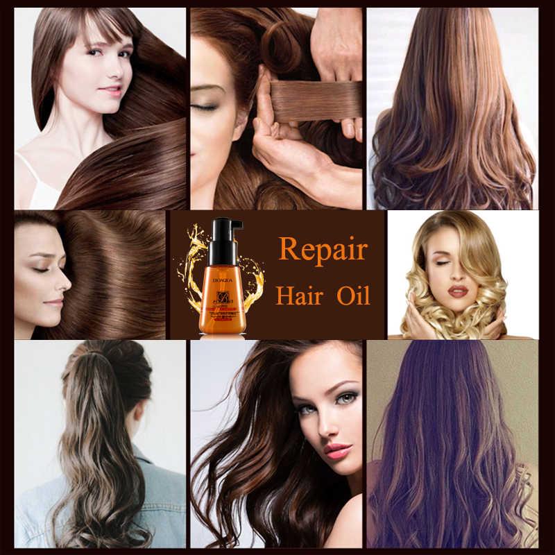 70ml BIOAQUA marokański czysty olejek arganowy olejek eteryczny do włosów kędzierzawe suche włosy keratyna odbudowa włosów pielęgnacja włosów i skóry głowy zabiegi olej