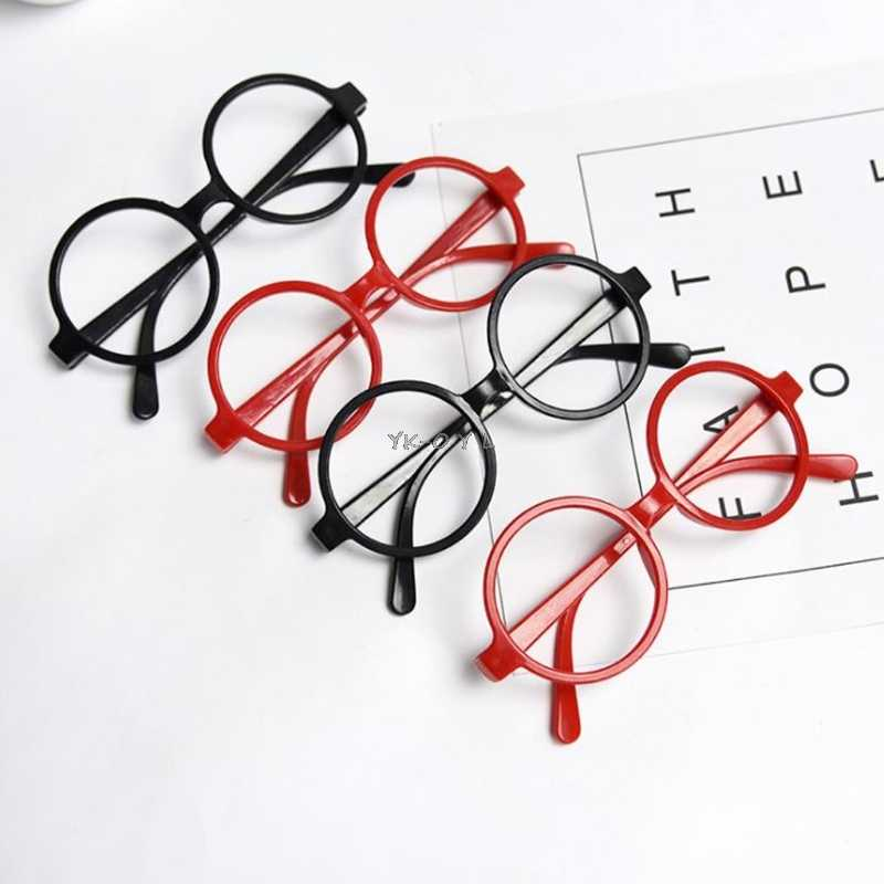 Childrens Kids Round Shape Black Or Red Frame Harry Potter Glasses Christmas Gift Party Gift party supplies Dropshipping