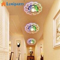 LumiParty Luxuoso do Candelabro de Cristal Lâmpada Do Teto LEVOU Colorido 5 W Montagem Embutida para Corredor Quarto Decoração Da Cozinha